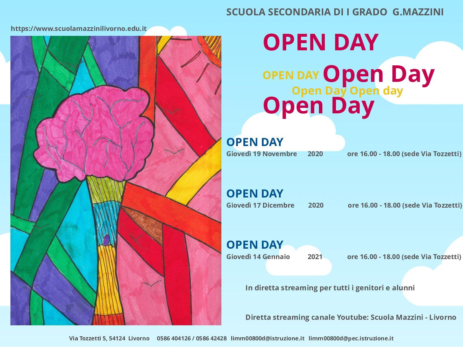 Primo Open day per i genitori degli alunni in entrata nell'a.s. 2021/2022